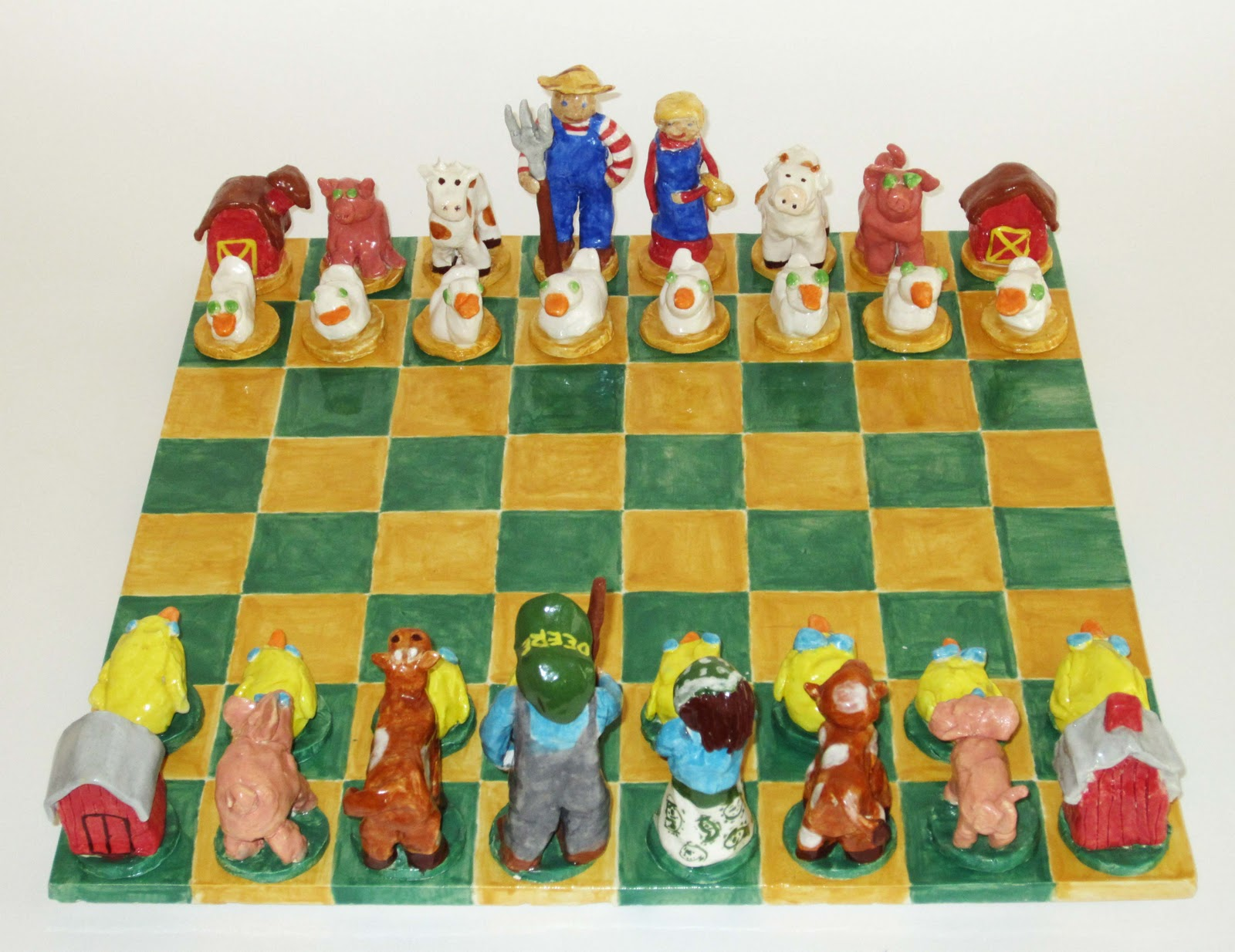 Clay   Chess Set