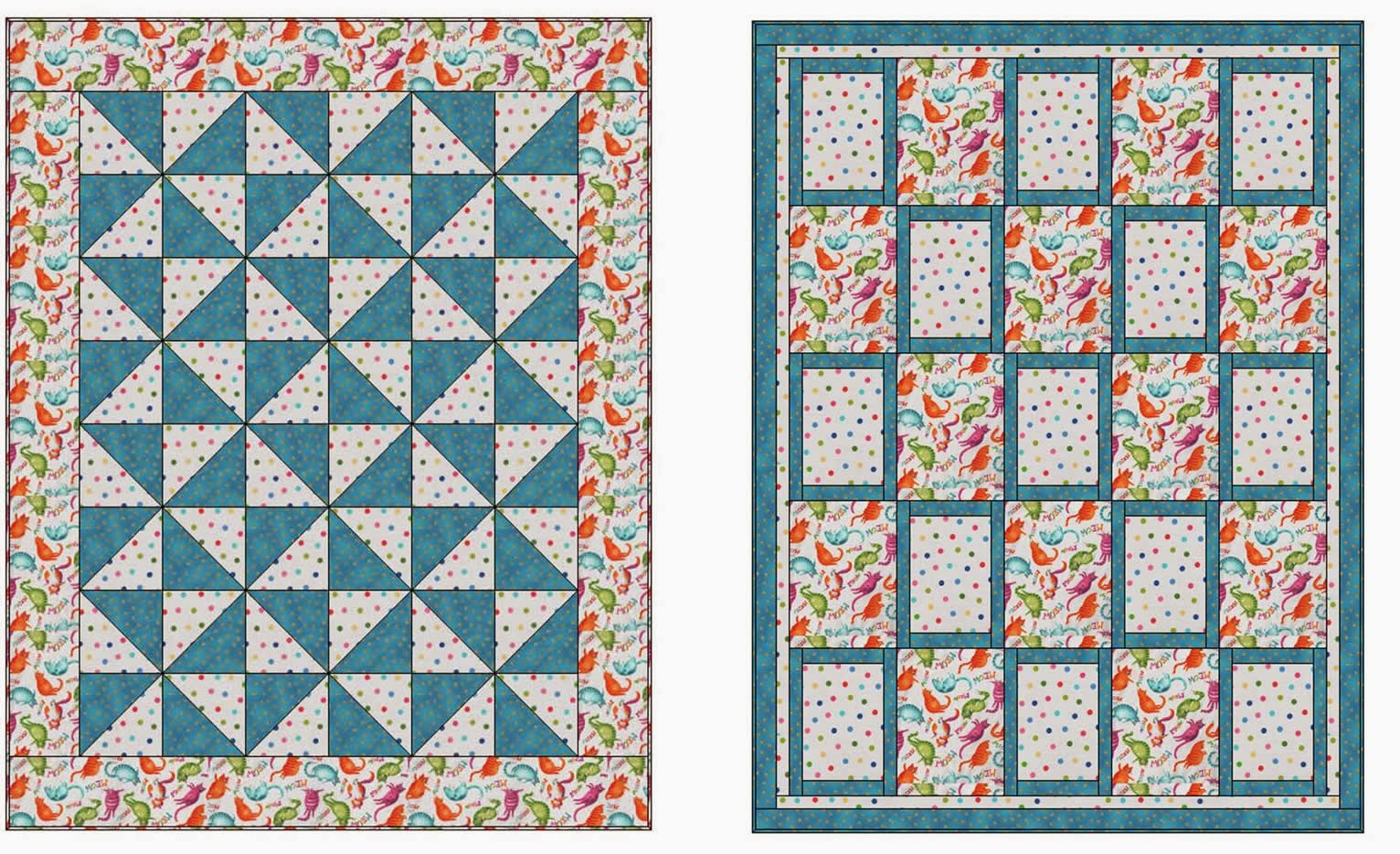Quilt Patterns With Two Fabrics : Fabric Fun