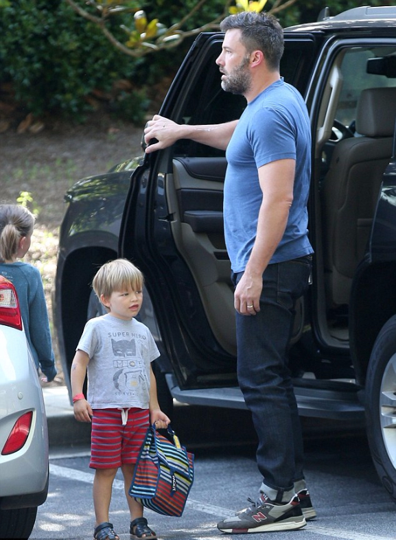 Ben Affleck & Samuel Affleck July 2015