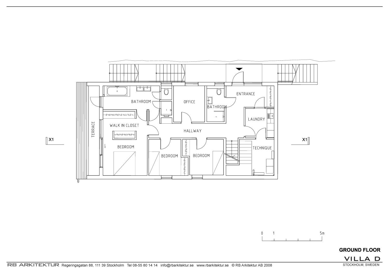 ground floor plan drawing courtesy of rb arkitektur first floor plan ...