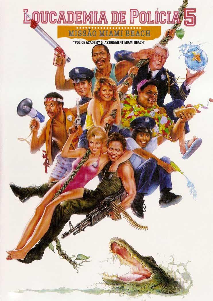 Loucademia de Polícia 5: Missão Miami Beach Torrent - Blu-ray Rip 720p e 1080p Dual Áudio (1988)