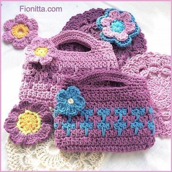 Este lindo tutorial de un bellisimo bolso tejido a crochet realizado por fionitta nos deja ver que no hay que ser expertos para realizar este tipo de lindos