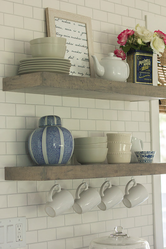 Rustic Floating Shelves Kitchen