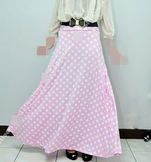 Skirt Labuh 670dot Soft Pink