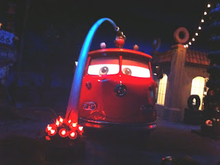 Red the fire engine in Radiator Springs Racers