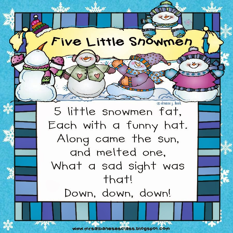 """Search Results for """"5 Little Snowman Poem"""" – Calendar 2015"""