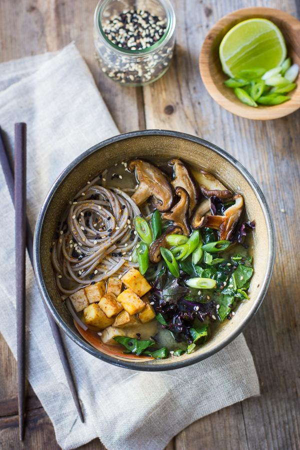 Bojon Gourmet: Miso and Soba Noodle Soup with Roasted Sriracha Tofu ...