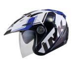 Helm INK T1 Seri 2 Putih Biru