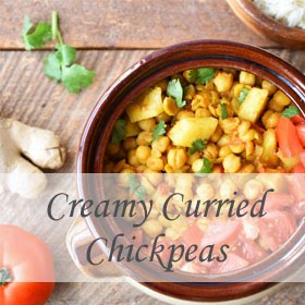 Creamy Curried Chickpeas