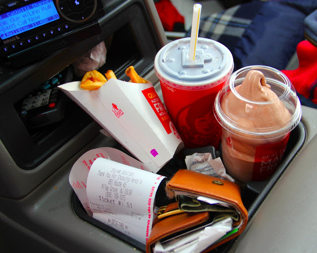 dashboard dining at its finest!