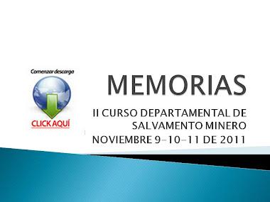 MEMORIAS II CURSO AUXILIARES SALVAMENTO MINERO