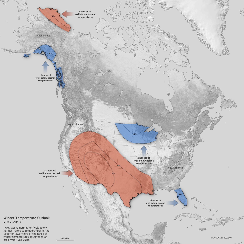 SNR Climate Corner November - El nino weather map usa