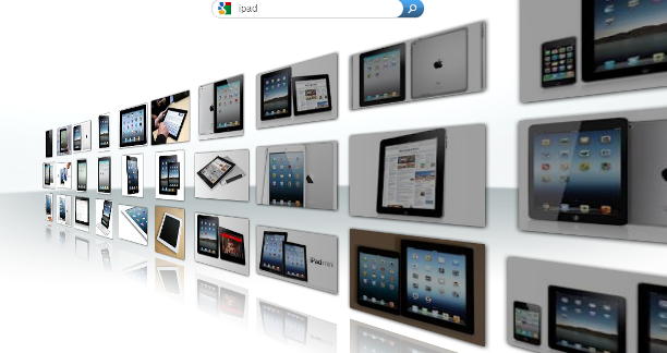 Wall interface stunning image search page: Intelligent Computing