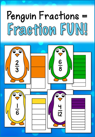 Corkboard Connections: Penguin Fractions = Fraction Fun!