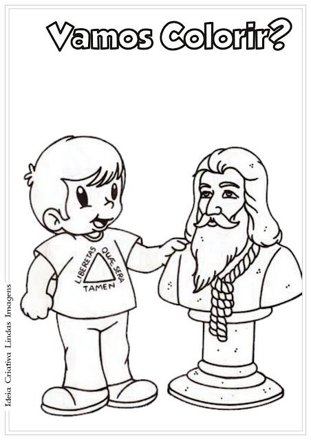 Desenho de Tiradentes para colorir