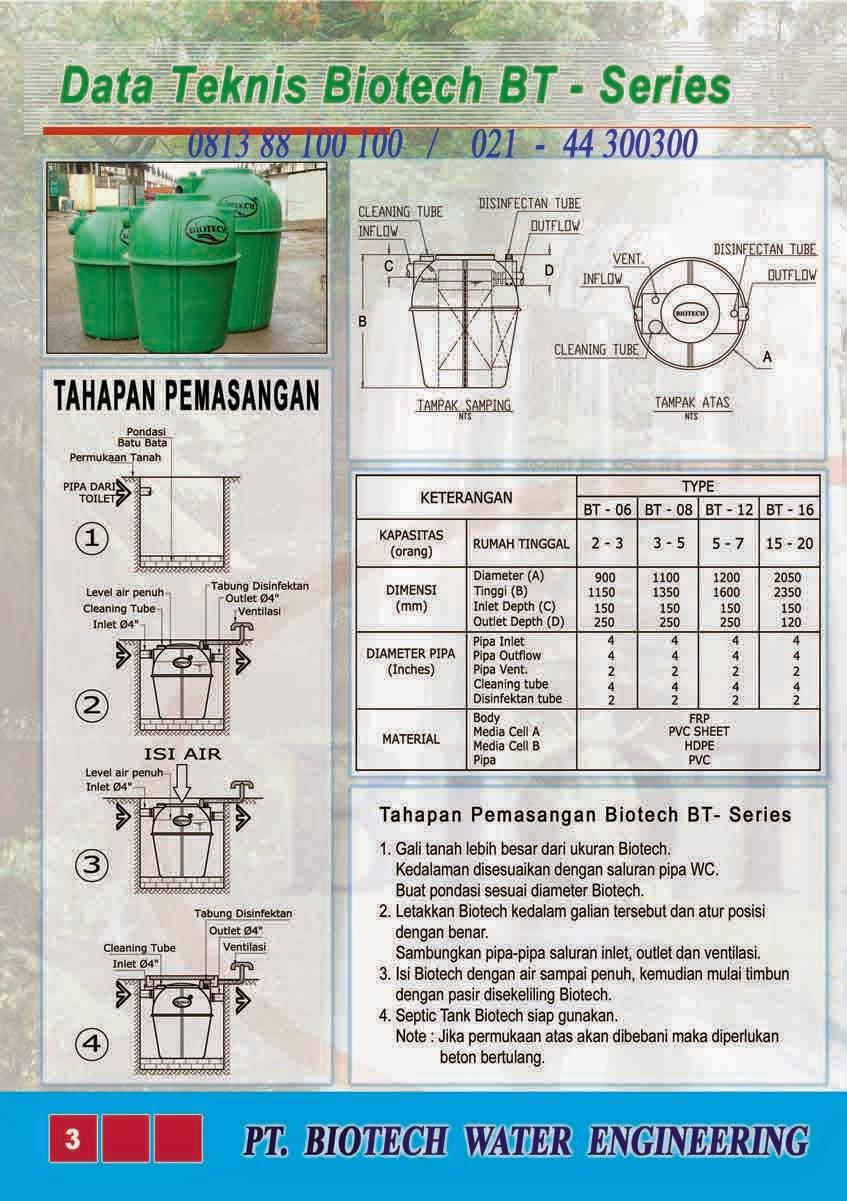cara pasang septic tank biotech, cara pemasangan, cara kerja, biofive, biogift, biofil