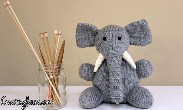 Creating Laura: A Knitted Elephant