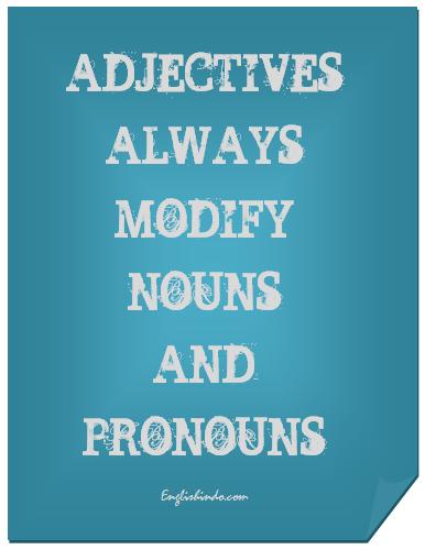 fungsi kata sifat atau adjective bahasa inggris