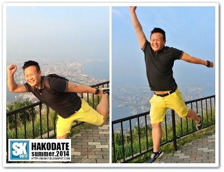 Hakodate Japan - Posing on Mount Hakodate