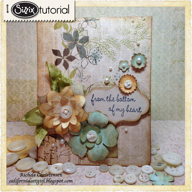 Sizzix Die Cutting Tutorial: Thank You Pop 'n Cuts Card by Richele Christensen