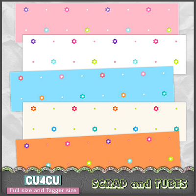 Flower Papers 4 (CU4CU) .Flower+Papers+4_Preview_Scrap+and+Tubes