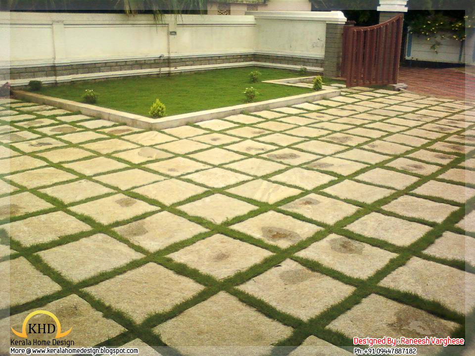 Landscaping design ideas kerala home design and floor plans for House landscape plan