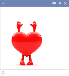 Surrender to Love - Facebook heart emoticon