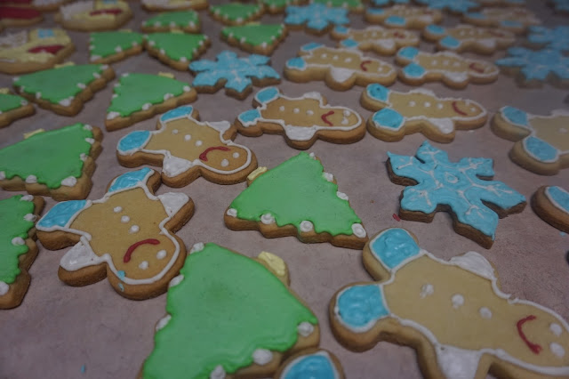 iced holiday sugar cookies