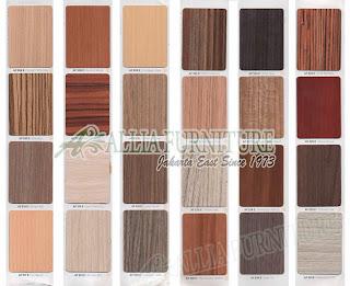 Contoh HPL motif tekstur kayu asli