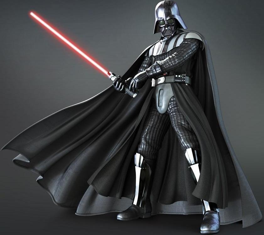 Darth Vader con su espada láser