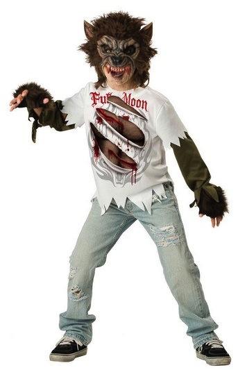 Halloween costumi fai da te per bambini - Lupo mannaro immagini da colorare ...