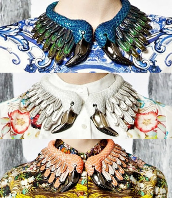 cavalli resort 2013, shoes, accessories, flamingo necklaces