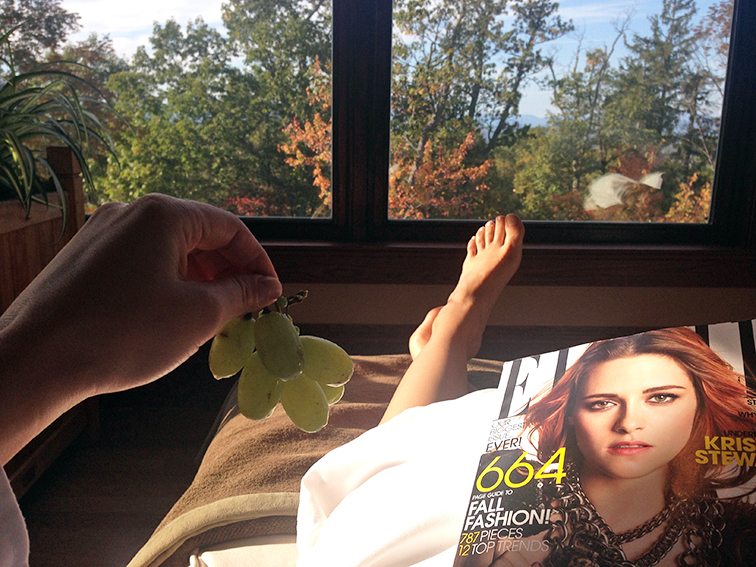 R&R at the Mohonk Mountain House spa, post massage, health & wellness, Elle Magazine