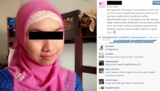 gila betul apa yang wanita muslimah bertudung ini