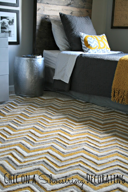 Bigger Boy Room, Yellow & Gray by Chic on a Shoestring Decorating