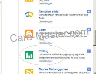 Cara memberi gadget polling pertanyaan pada blog