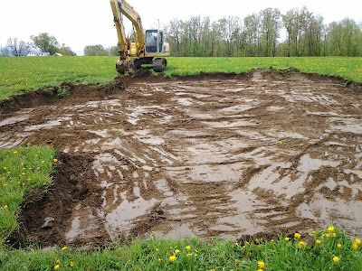 Stripping topsoil for later use