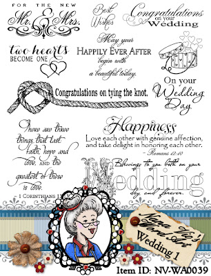 Wedding 1 word art, sentiments, digital stamps
