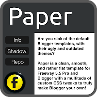 Paper, a Freeway/Blogger Template