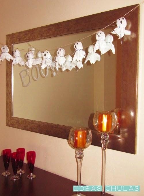 Guirnalda de fantasmas decoración de Halloween