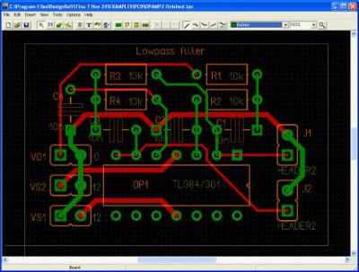 Lay-out de una PCB en un programa de diseo de circuitos impresos