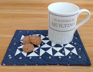 Broken Dishes Quilt Pattern Mug Rug