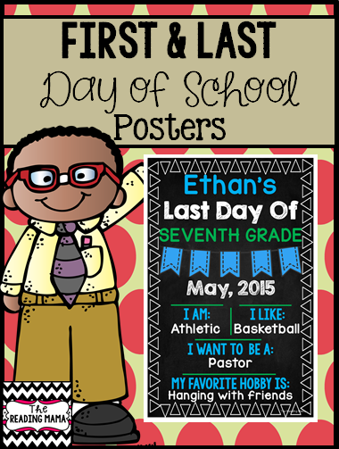 https://www.teacherspayteachers.com/Product/First-and-Last-Day-of-School-Posters-Editable-1813108
