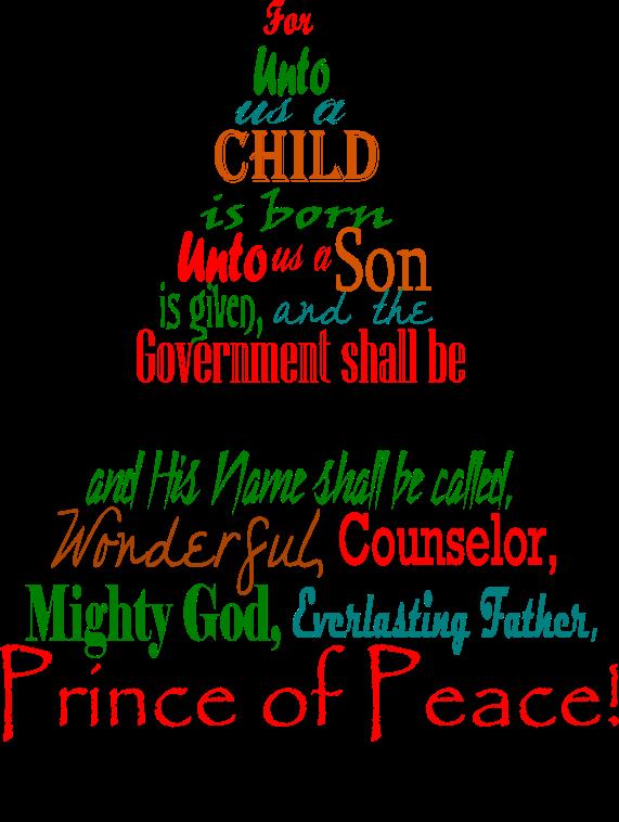 Christmas Scripture Isaiah 9 6
