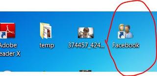 Create Facebook Desktop Icon Make Shortcut