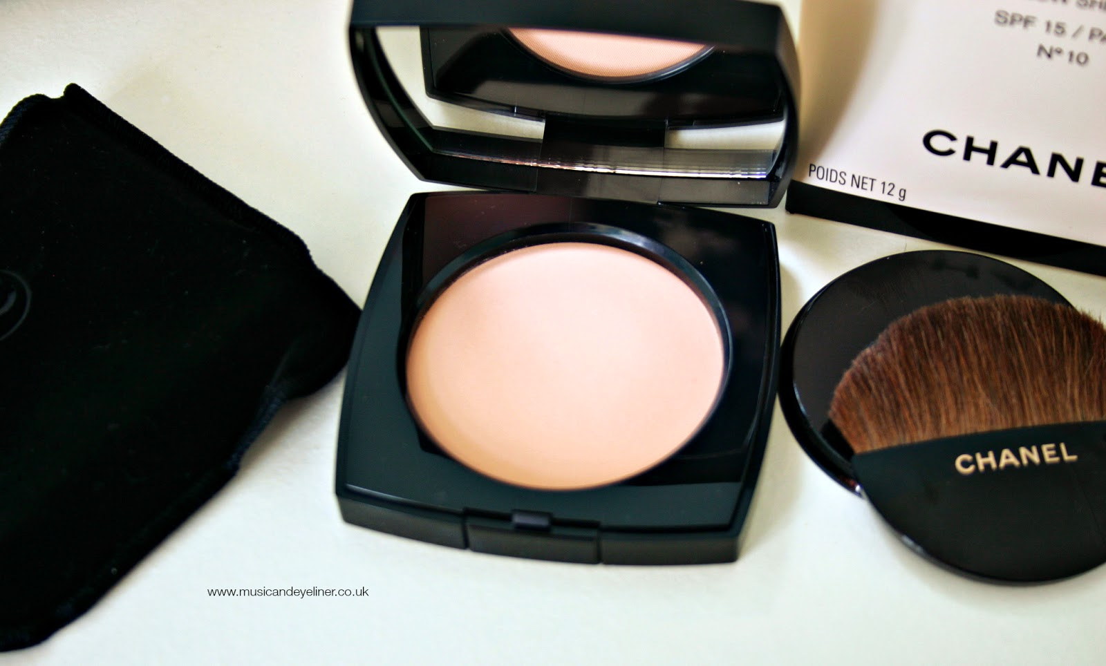 photograph of chanel les beiges powder in shade 10 on www.musicandeyeliner.co.uk