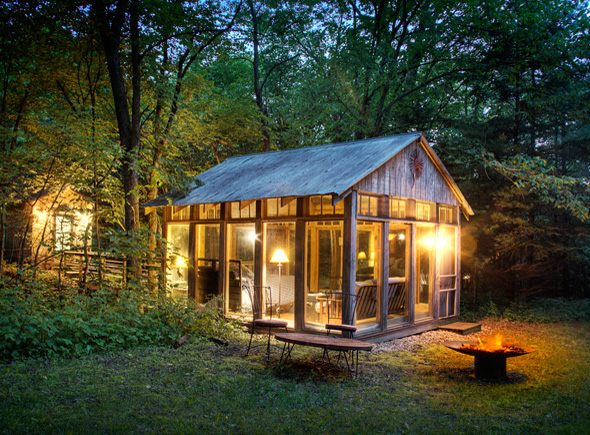 The Glass House Cabin In Georgia : Cabin fever the curated house