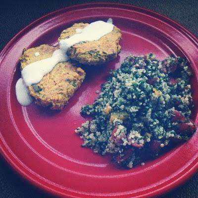 Meghan Telpner baked falafel quinoa