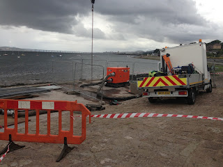 Temporary additional pump at Douglas Terrace, Broughty Ferry