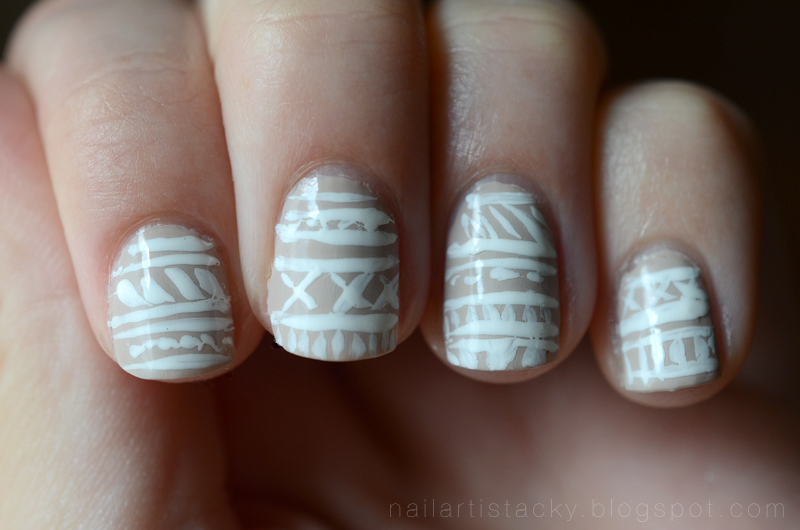 Nail Art Is Tacky Freehand Tribal